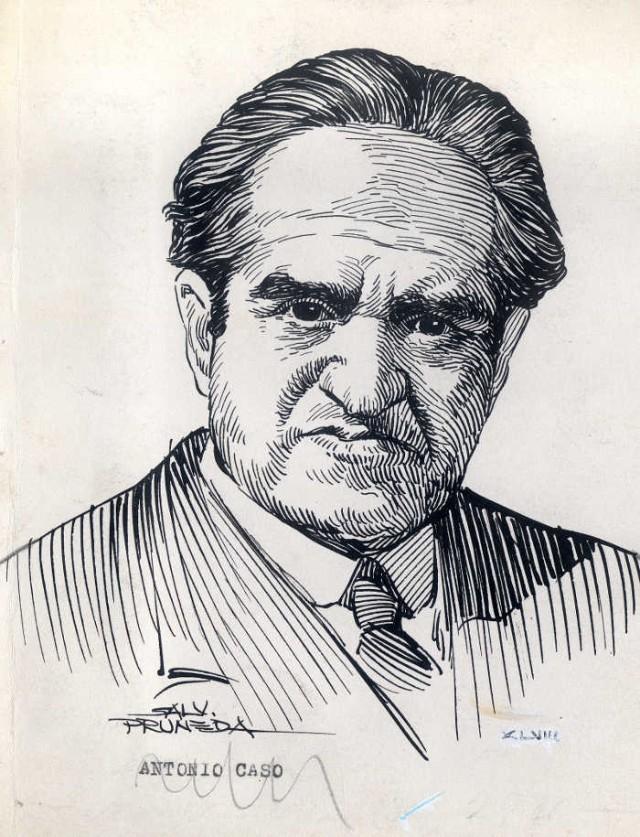 Dibujo Antonio Caso filósofo mexicano