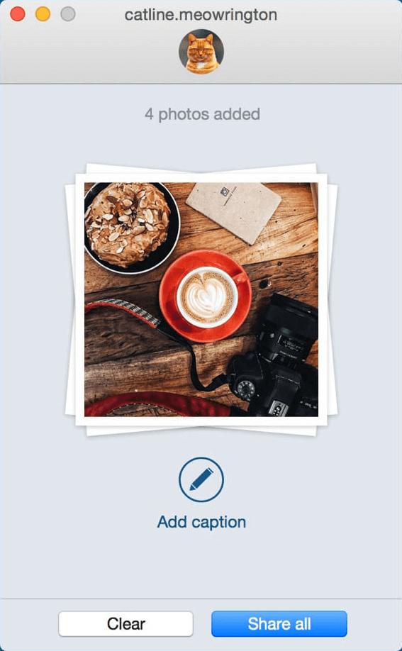 Captura de la aplicación Uplet cámara y taza de café