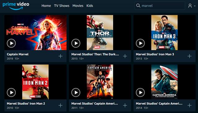 Amazon Prime_ Disney Marvel