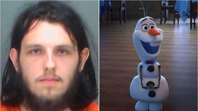 Cody Meader y el muñeco agredido (Sheriff de Pinellas / Disney)
