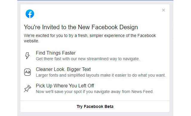 Dark Mode de Facebook