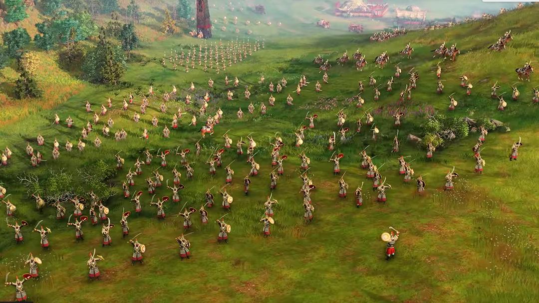 Escena de Age of Empires IV