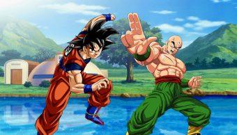 Goku y Ten Shin Han Dragon Ball