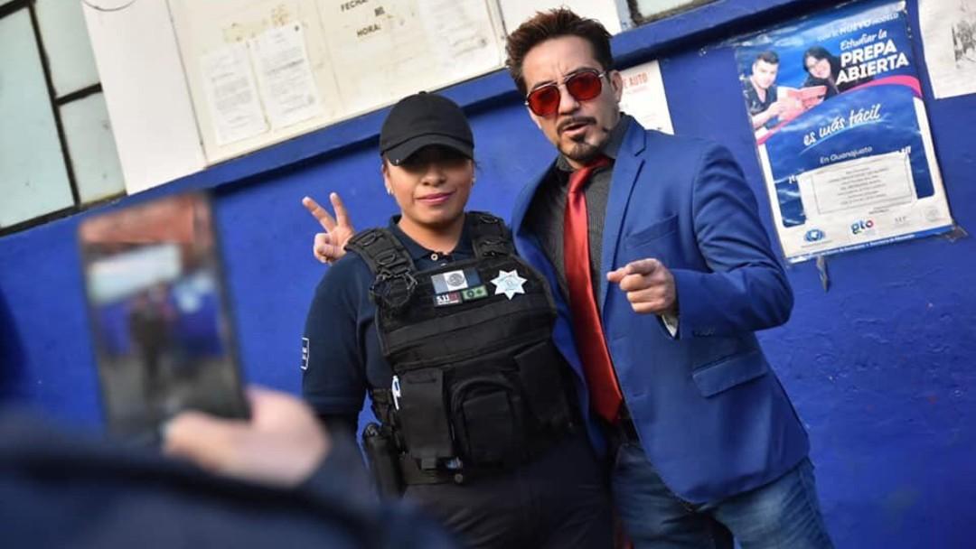 Iron Man México Policía