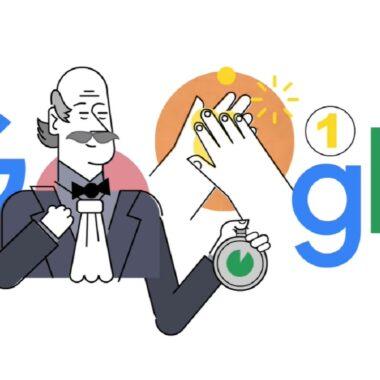 Doodle Google Lavado de Manos