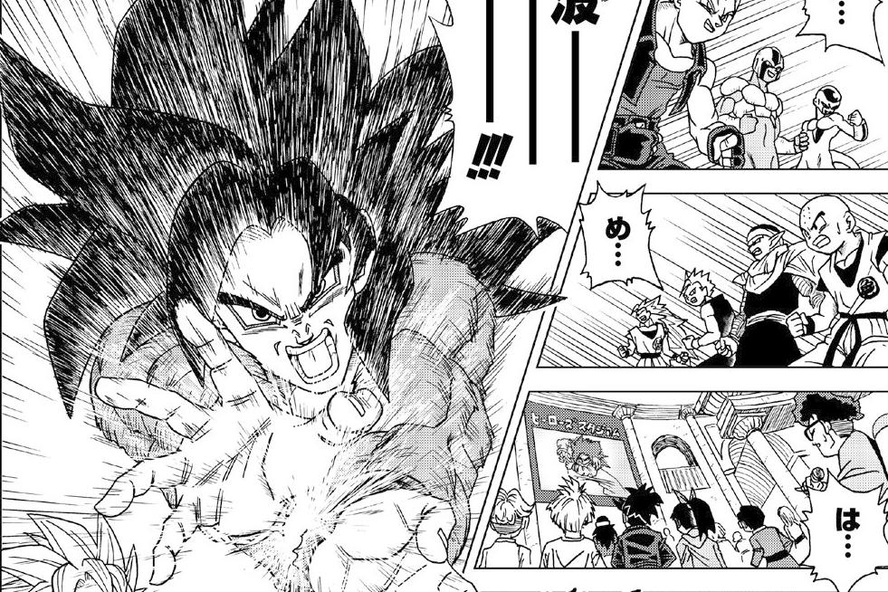 del Super Saiyajin Fase 4 Manga