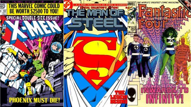Cómics de John Byrne, Uncanny X-Men, Man of Steel, Fantastic Four, Portadas