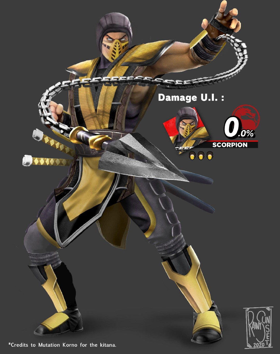 Scorpion Mortal Kombat Super Smash Bros Ultimate