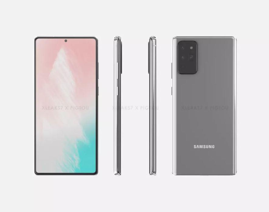 Samsung revela por error el diseño del Galaxy Note 20 Ultra