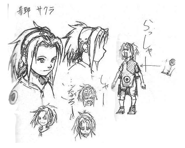 Diseños Originales Naruto Masashi Kishimoto Sakura