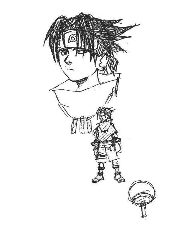 Diseños Originales Naruto Masashi Kishimoto Sasuke