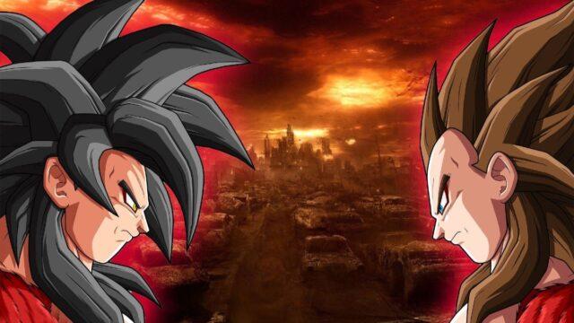 Goku Vegeta Super Saiyajin 4 Super Dragon Ball Heroes