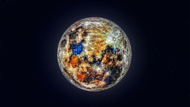 Foto Colores reales de la Luna