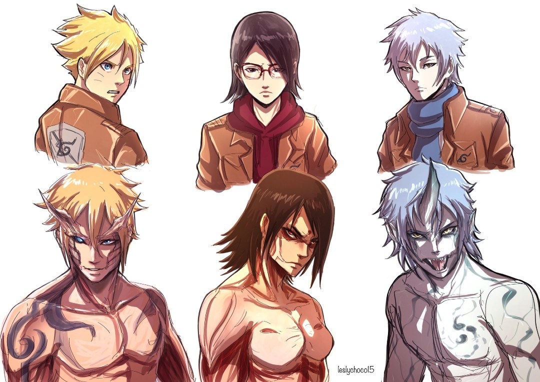 Boruto Attack on Titan Shingeki no Kyojin