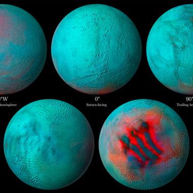 Imágenes infrarrojas del océano debajo de Encélado, la luna de Saturno (NASA)