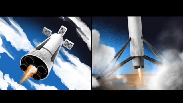 Amur, el cohete reutilizable de Roscosmos