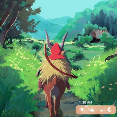 Fanart imagina La Princesa Mononoke como Breath of the Wild