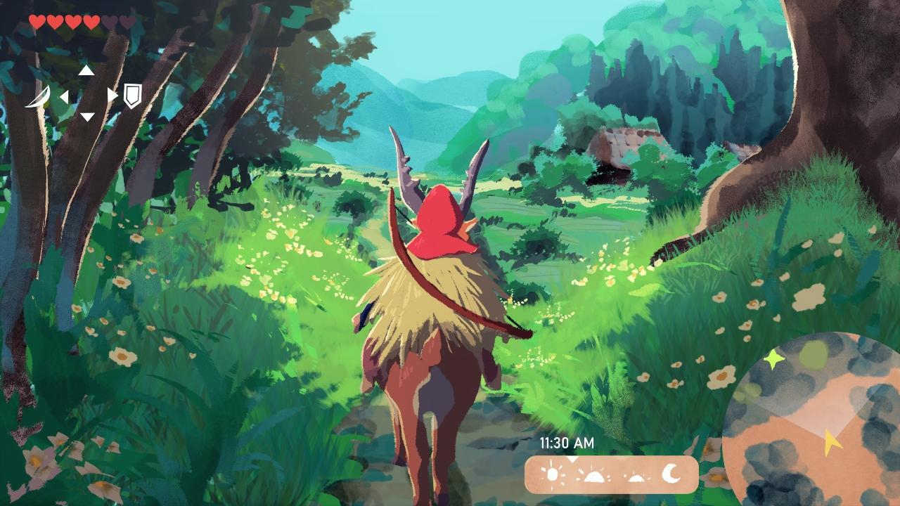 Fanart imagina La Princesa Mononoke como Breath of the Wild
