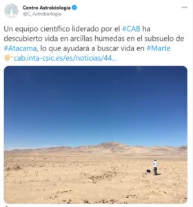 Detectan microorganismos en el desierto de Atacama