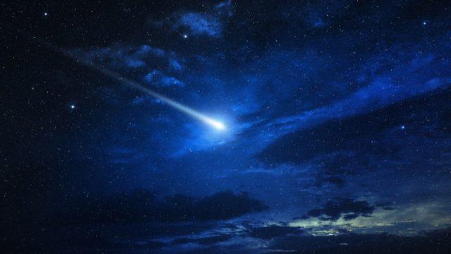 Barco capta meteorito