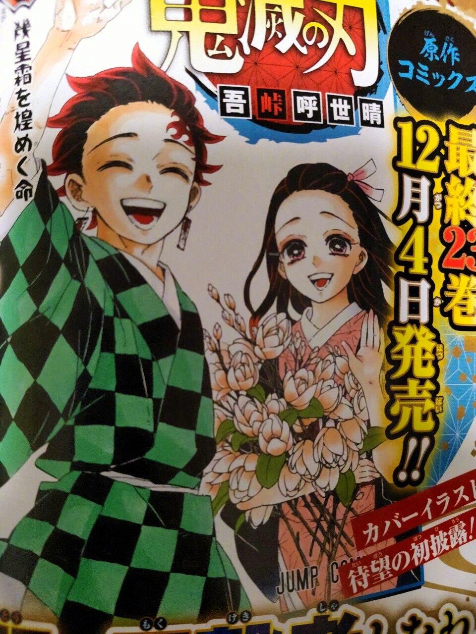 kimetsu no yaiba portada manga final