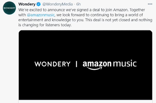 Amazon anuncia la compra de la empresa de podcasts Wondery