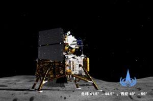 Sonda china aterriza con éxito en la Luna