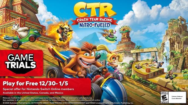 Crash Team Racing Nitro-Fueled gratis en Nintendo Switch