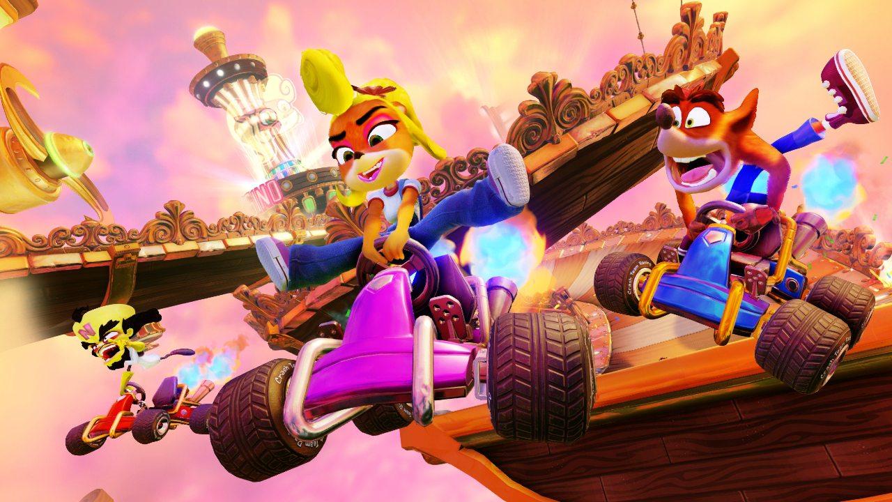 Crash Team Racing disponible sin costo en Nintendo Switch