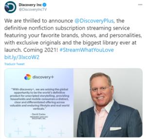 Discovery Plus plataforma de streaming 2021