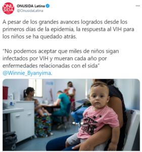 Cada 100 segundos se infecta un niño de VIH