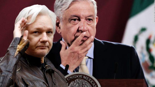 Julian Assange y Andrés Manuel López Obrador