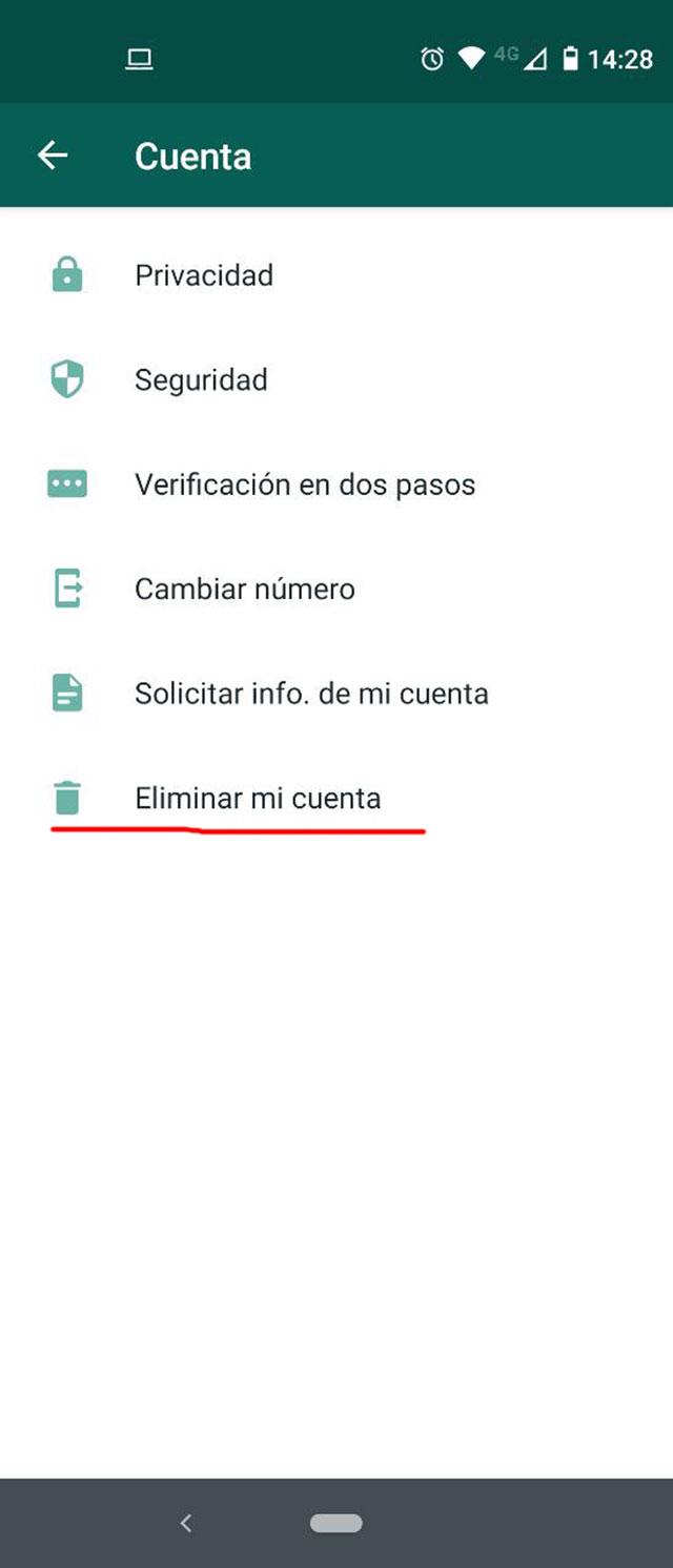 Cómo eliminar tu cuenta de WhatsApp en Android e iOS, Cloud Pocket 365