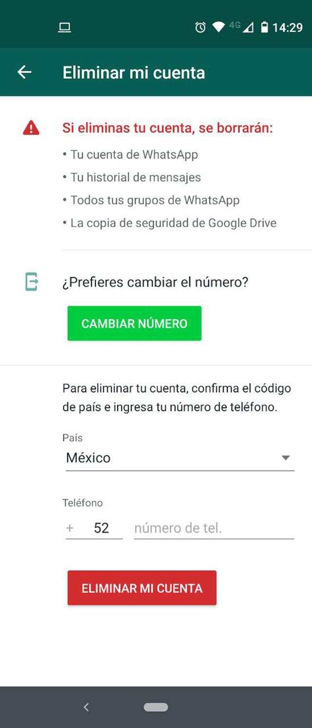 Cómo eliminar tu cuenta de WhatsApp paso a paso