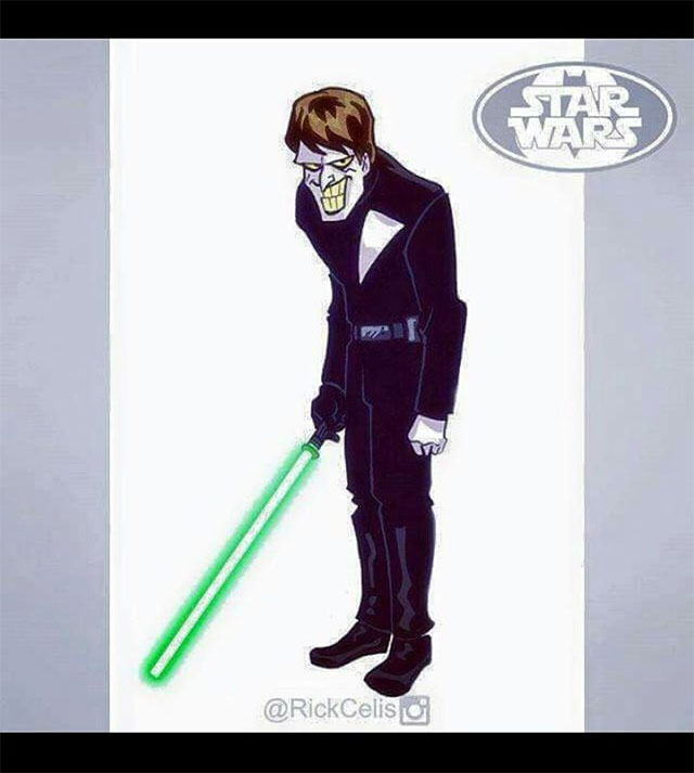 Joker vestido como Luke Skywalker?