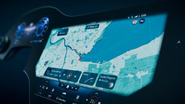 Mercedes-Benz presenta la nueva pantalla de los EQS