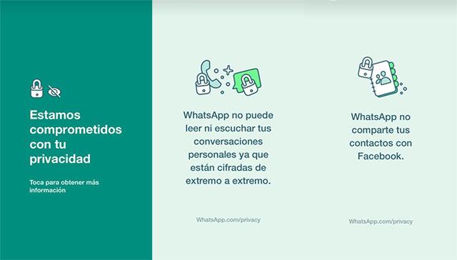 WhatsApp explica qué hace con tus datos